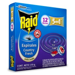 Espiral Raid Country Fresh x 12 unid.