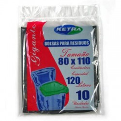 Bolsas de Residuo Ketra 80 x 110 x 10 unid.