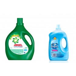 COMBO Ariel x 5 lts. + Comfort x 4 lts.