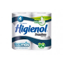 Papel Higienico Higienol Premium Doble Hoja 4 x 30 mts.