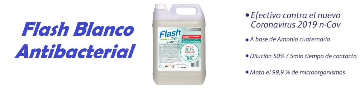 Flash Blanco Antibacterial - Coronavirus